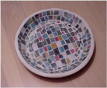 Mosaic Stepping Stones for Beginners   How to Make a Stained Glass Mosaics Bowl – Direct Method