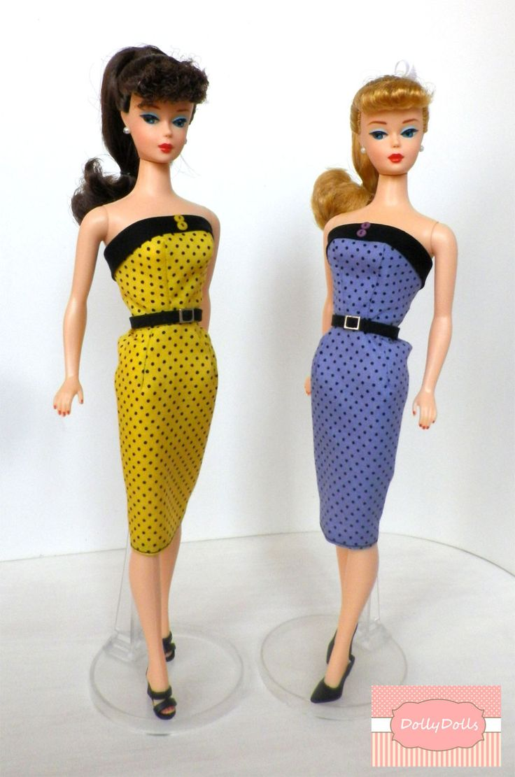 Dots Collection, Vintage Sheath Dress for Barbie doll by Dollydolls. de MyDollyDolls en Etsy