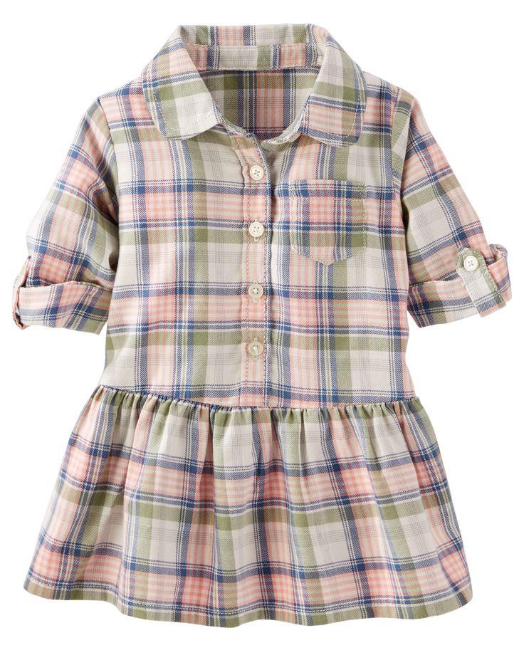 Baby Girl 2-Piece Plaid Shirt Dress | OshKosh.com