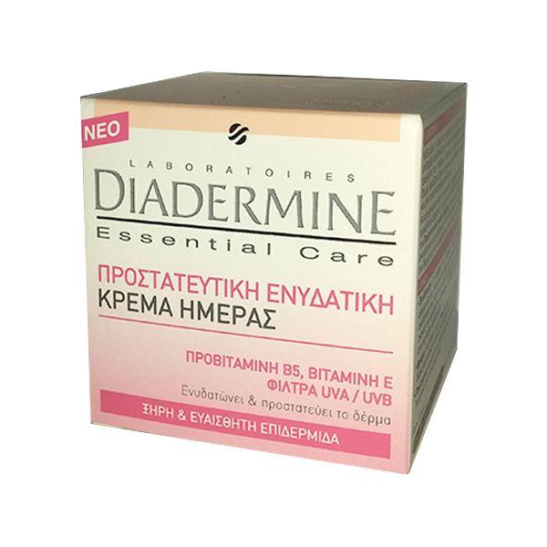 Diadermine Essential Care Προστατευτική Ενυδατική Κρέμα ημέρας (ξηρή & ευαίσθητη). Αποκτήστε τα 50ml από το aromania.gr μόνο με 5,00€! #aromania #Diadermine