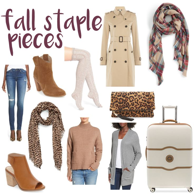 Classic fall staple pieces - luggage, booties, blanket scarves & sweaters!  #HelloGorgeous