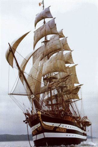 America Vespucci. More than just a sailing ship! [This ship is History afloat in the open Waters.]