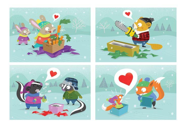 Christmas Card 2016, #love, #sharing, #winter, #animals, #presents