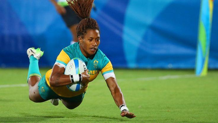 Die australische Rugby-Spielerin Ellia Green © dpa - Bildfunk Fotograf: Friso Gentsch