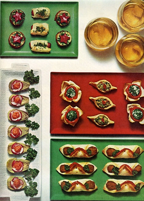 fast and fancy canapes, 1965