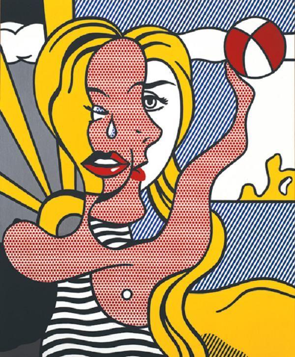 'Girl with Beach Ball III' (1977) by Roy Lichtenstein