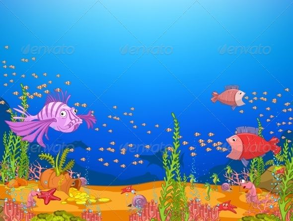 underwater cartoon wallpaper - photo #47