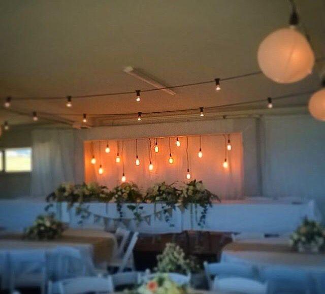Festoons & our retro chic Edison light bulbs as a #bridal back-drop. #TSHweddings #lighting #wedding