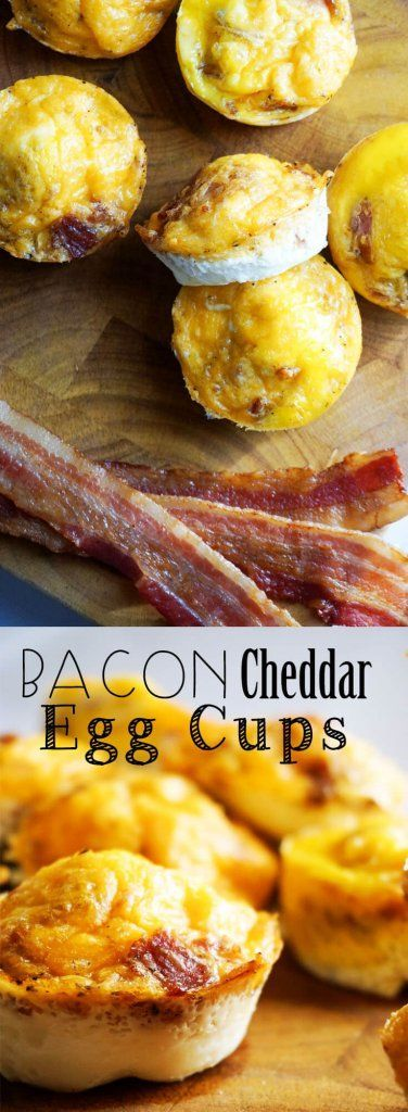 Bacon and Cheddar Egg Cups - 3 Ingredient Bacon Egg Cups - Easy Keto and low carb Recipe