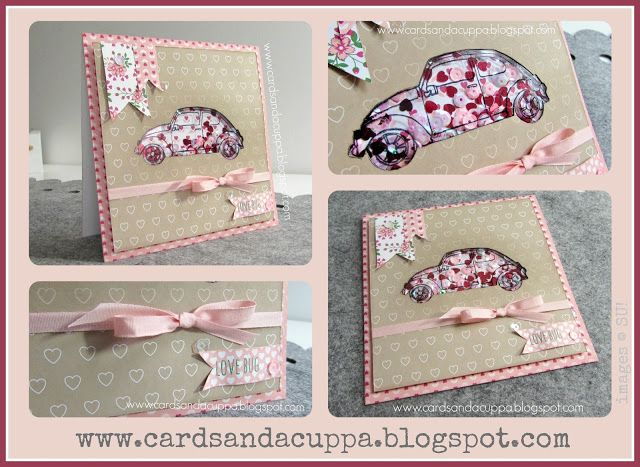 "2016 VIDEO TUTORIAL   How to Make a ""Love Bug"" Shaker Card Without Dies using Beautiful Ride by Stampin' Up!   Beautiful Ride Photopolymer Stamp Set	140738"