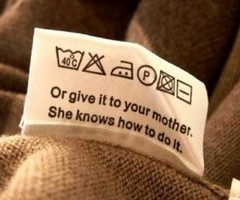 Instructions. Or give it to your mother. She knows how to do it.: Tags, Laughing, Mothersday, Mothers Day, Quotes, Laundry Rooms, Funny Stuff, So True, Mom