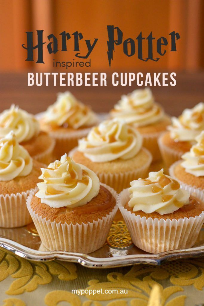 Easy Butterbeer Cupcakes A Harry Potter Inspired Recipe My Poppet Living Cupcake Recipes Butterbeer Cupcakes Harry Potter Desserts