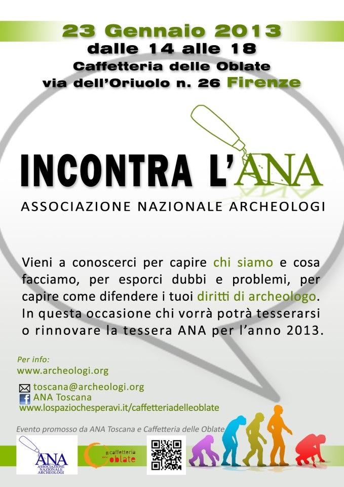 23 Gennaio a #Firenze #archeologia