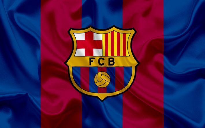 Download wallpapers Barcelona FC, professional football club, Barcelona emblem, Barcelona logo, La Liga, Barcelona, Catalonia, Spain, LFP, Spanish Football Championships
