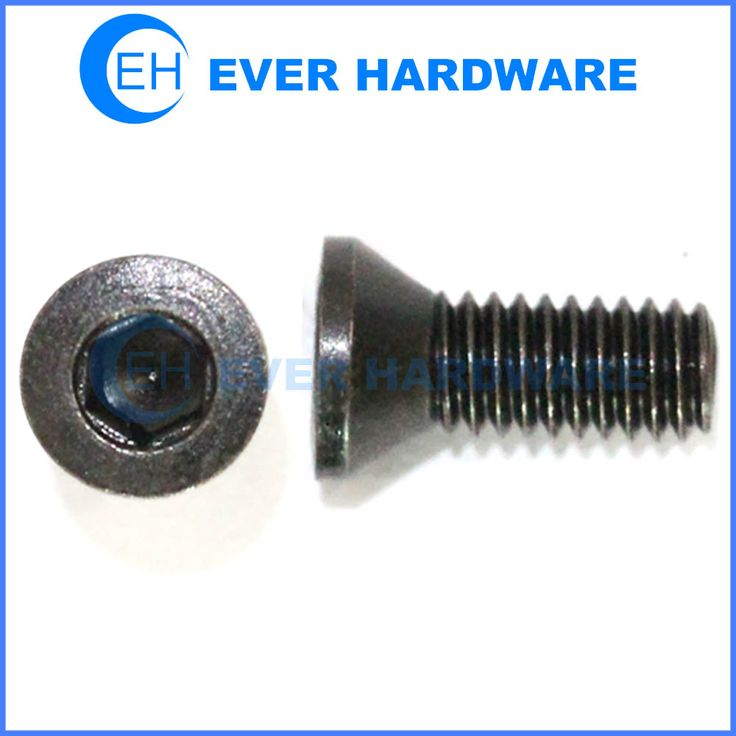 Black countersunk bolts alloy steel hex socket 10.9 class flat head screws