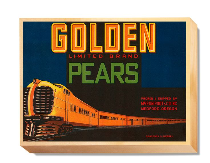 LAB 007 Crate Label Golden Pears