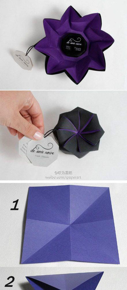 decorative origami box with photo diagrams