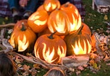 Pumpkin Fire Pit via Better Homes and Gardens