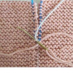 Garter stitch seams invisible join tutorial