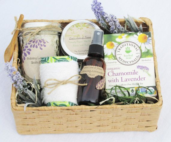 Spa Gift Basket|Relaxation Gift| Spa Set| |Organic Gift Basket| Stress Relief| Birthday| Bridesmaid Gift| Employee Gift| Mother of the Bride on Etsy, $68.00