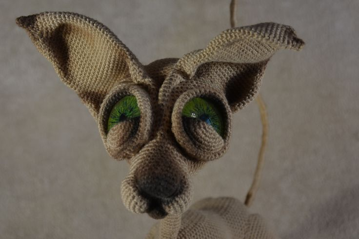 Crochet amigurumi Cat Sphynx LittleOwlsHut