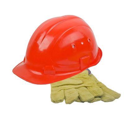 safety helmet and gloves / kask i rękawice do bezpiecznej pracy