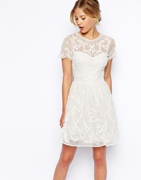 ASOS Pretty Gothic Embellished Skater Dress