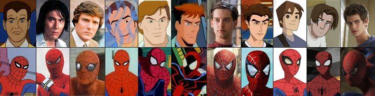 1) Spider-Man (1967-1970) 2) Supaidâman (1978-1979) 3) The Amazing Spider-Man (1977-1979) 4) Spider-Man (1981-1982), Spider-Man and His Amazing Friends (1981-1983) 5) Spider-Man (1994-1998) 6) Spider-Man Unlimited (1999-2001) 7) Spider-Man (2002), Spider-Man 2 (2004), Spider-Man 3 (2007) 8) Spider-Man: The New Animated Series (2003) 9) The Spectacular Spider-Man (2008-2009) 10) Ultimate Spider-Man (2012) 11) The Amazing Spider-Man (2012)