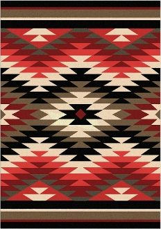 The Santa Fe Orange Starburst Area Rug Will Add Chic Desert Charm To Your Southwestern Ranch Decor With A Chevron Design Comprised Of Rustic Color