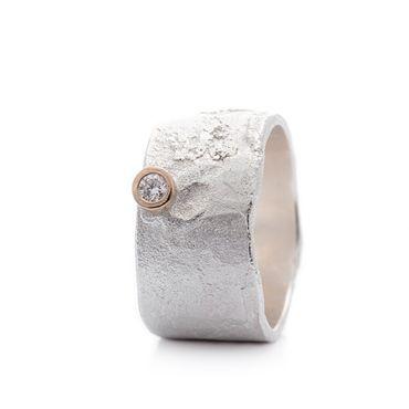 Brede zilveren ring | Wim Meeussen &CTRA Zilveren Juwelen Antwerpen