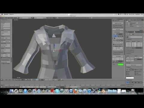 Cloth Pinning For Human Clothing. Blender 2.6
