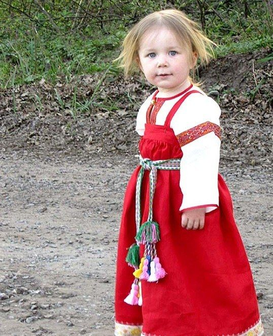 Русский костюм для девочки своими руками выкройки фото 915