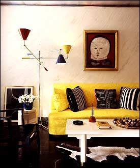 albert hadley room. yellow sofa