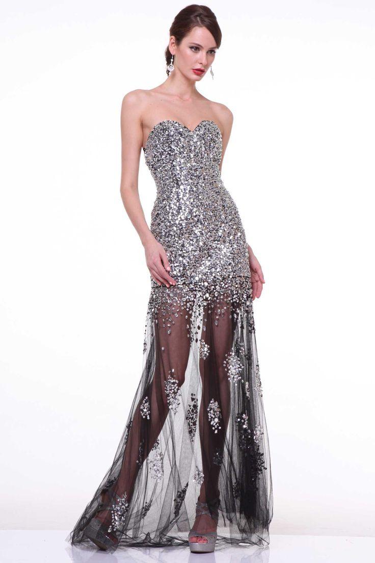 Sweetheart Long Prom Dress CDJC4389 Floor Length  Shape Prom or Evening Dress has Sweetheart Neckline, Strapless, Fully Jewel Beaded Bodice and Open Back, Layered Mesh Skirt with Detail Beading. Zipper Back Closure. https://www.smcfashion.com/wholesale-prom-dresses/prom-dress-cdjc4389