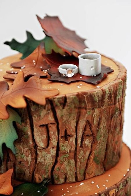 I totally love this top tier, but maybe his/hers coffee cups in place of wedding rings?