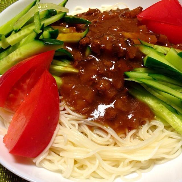今日は素麺バージョン‼︎ 今日も良い風〜 - 55件のもぐもぐ - 土用の丑の日…だけど、大好きなジャージャー麺! by akkototwins