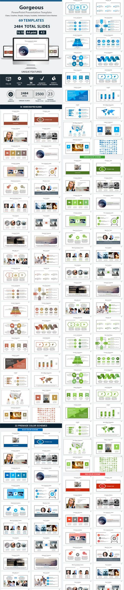 free graphicriver templates download – quantumgaming.co, Graphicriver Folio Powerpoint Presentation Template, Presentation templates