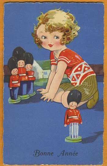 Vintage Christmas Agnes RICHARDSON card