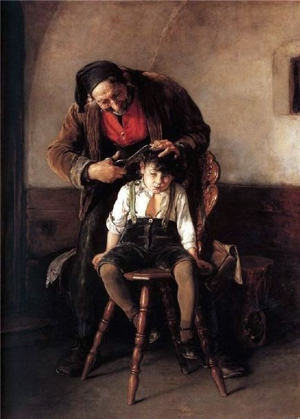 Georgios Jakobides, Greek painter 1853-1932: The Barber