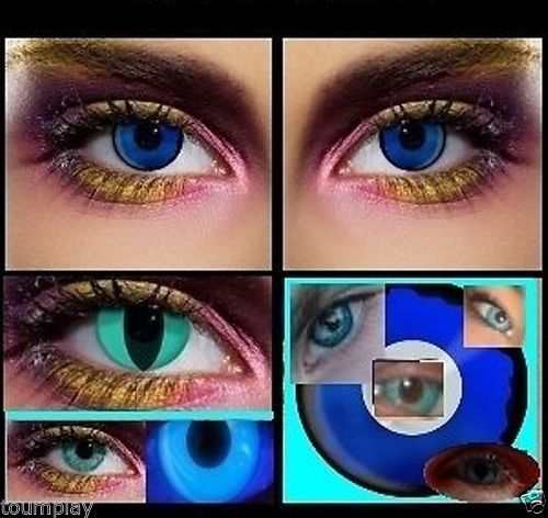 2-lenses-UV-BLUE-glow-fashion-touch-halloween-costumes-party-fun-scary-lens
