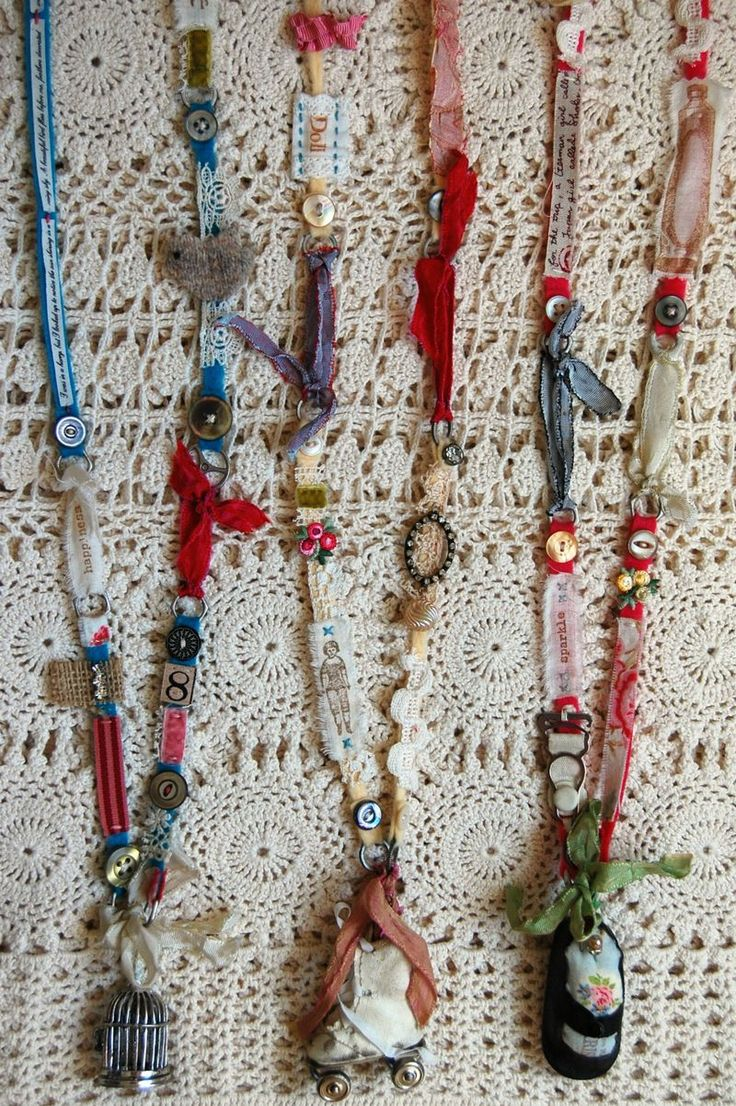 Lisa Super stitched bits.  She sells kits to make these incredible, detailed necklaces.  ***Love these!!!