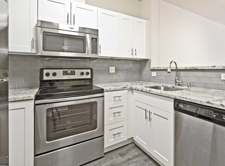 AMLI At Bellevue Park, Our Bellevue Apartments, Features Fully Equipped  Kitchen With Two Appliance