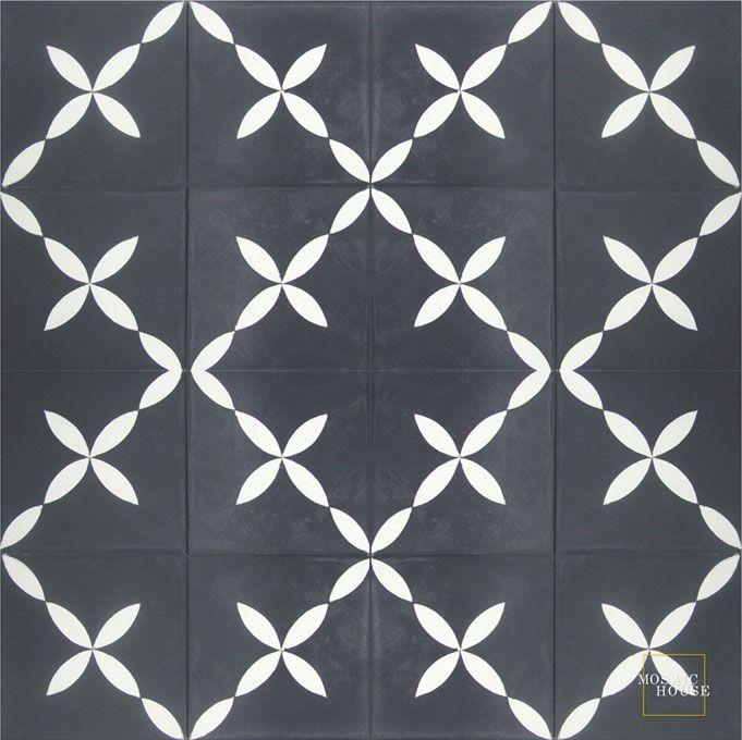 MOSAIC HOUSE: Daisy Flier C4-14 - moroccan cement tile
