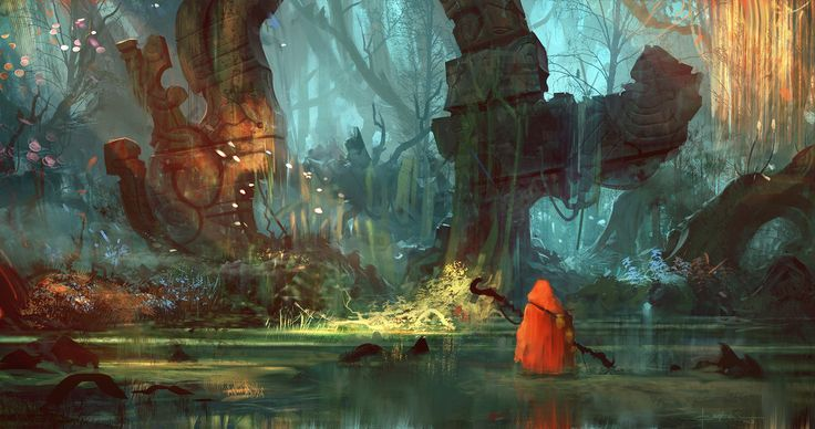 Relic Theory by exphrasis (Geoffrey Ernault) - Digital ArtLords environment, fantasy, forest, jungle, swamp