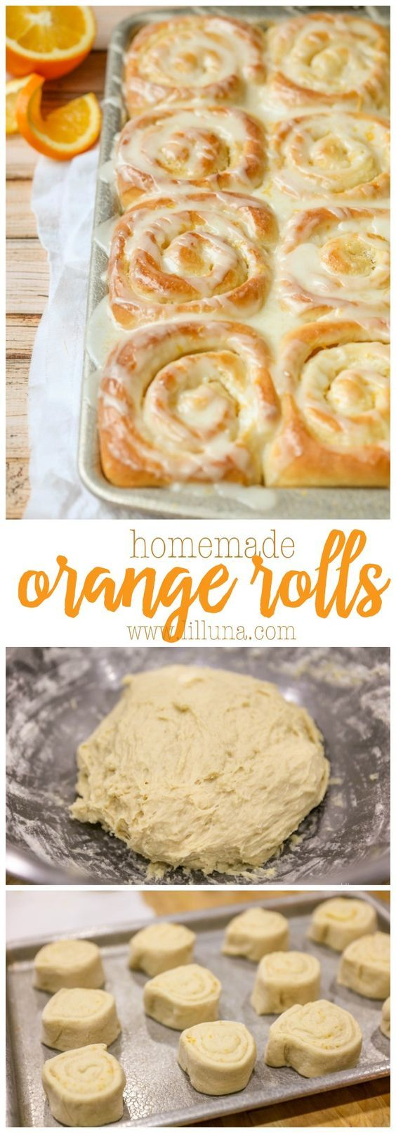 Homemade Orange Rolls - one of our favorite morning treats! Everyone loves this…