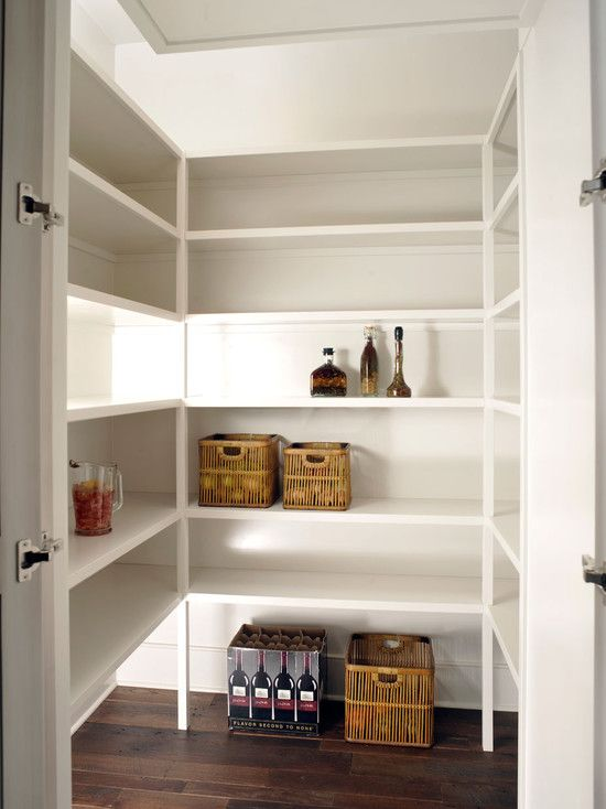 Pantry Extra Lighting On Shelves Maybe Add Outlets And Make Sure Some Shelves Are Big Enough