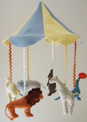 Vintage circus nursery theme. Circus mobile available exclusively at BabyGardner.com #vintagebaby #circusnursery