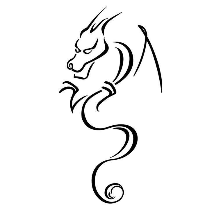 Small Tribal Dragon Tattoos Dragon Tattoo Designs Dragon Tattoo Ideas Sma In 2020 Tribal Dragon Tattoos Small Dragon Tattoos Dragon Tattoo Simple