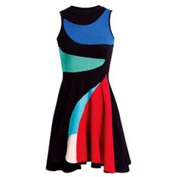 Цвет блок платье