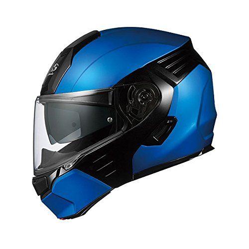 オージーケーカブト(OGK KABUTO)バイクヘルメット システム KAZAMI フラットブルー/ブラック (サイズ:XL) KAZAMI